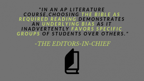 Editor-in-Chief Editorial: Why we shouldn't read the Bible in AP English Literature