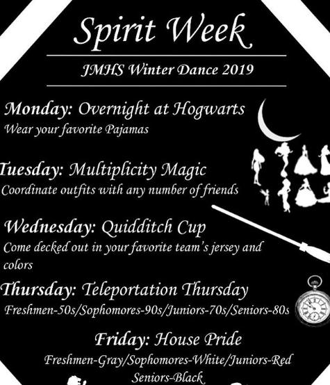 SGA announces spirit days for Winter Dance week