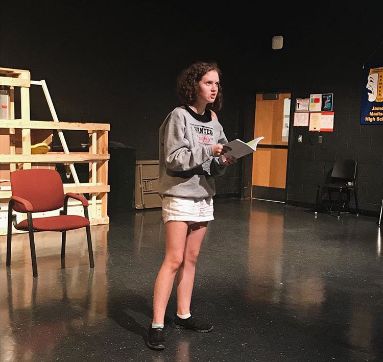 Reed practices one of her monologues as Lady Macbeth for the upcoming show.