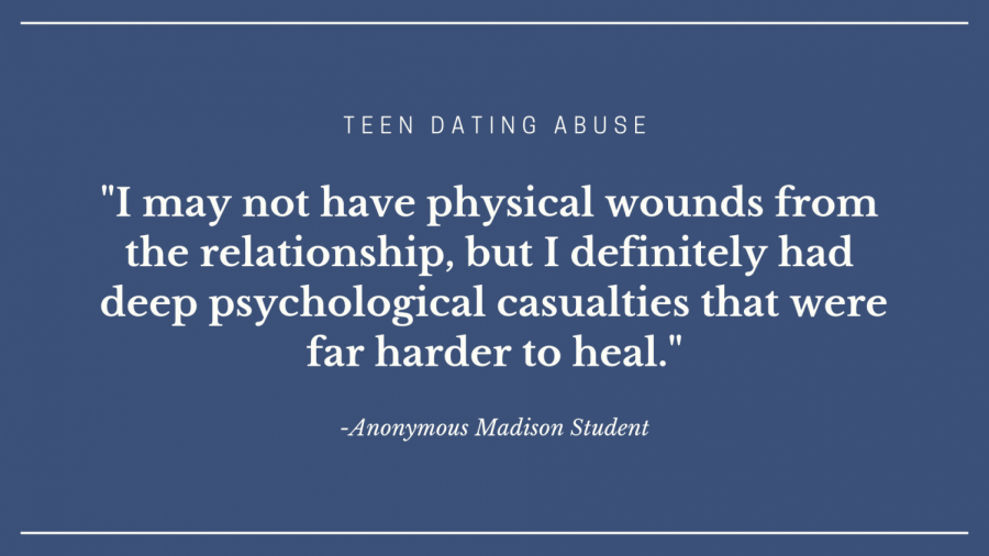 Teenagers experience three times the national average of dating abuse